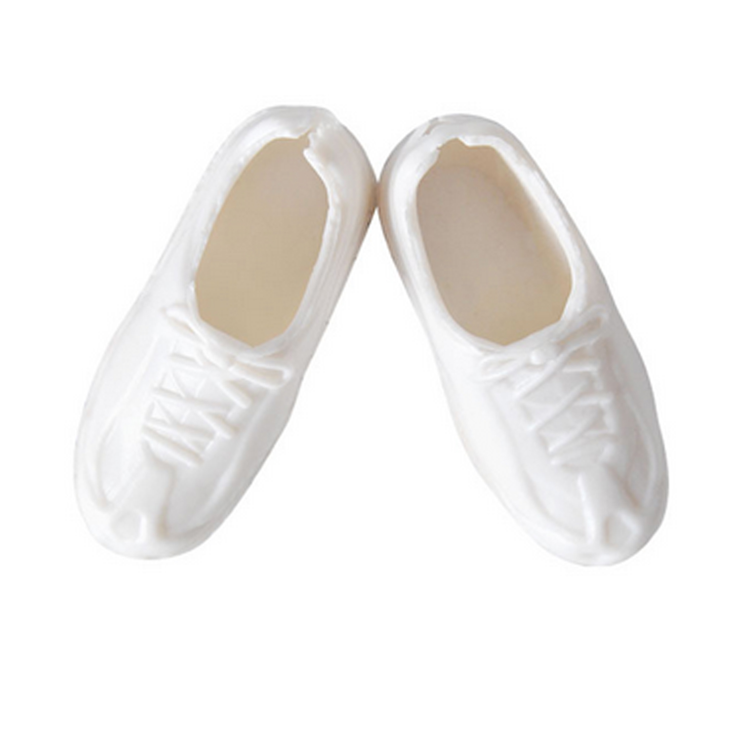 lace up white oxford nurse shoes Barbie doll shoes