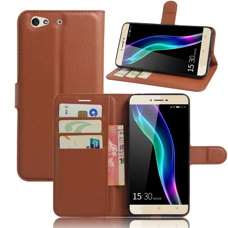 50 pièces/pour Gionee Elife S6 etui portefeuille Style Flip couverture PU cuir étui coque de téléphone avec support fonction de porte-carte