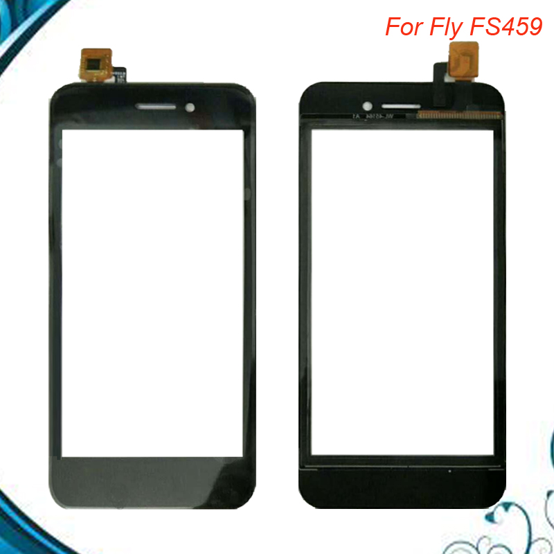 Top Quality 4.5 inch Touchscreen For Fly FS459 Nimbus 16 Touch Screen Digitizer Panel for Fly FS 459 5pc/lot image