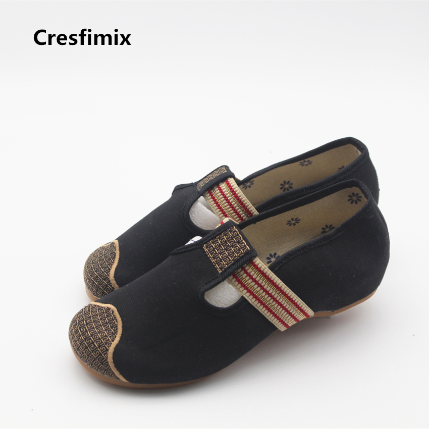 Cresfimix women cute spring and summer dance shoes lady solid soft and comfortable shoes female casual slip on flats cresfimix women cute spring