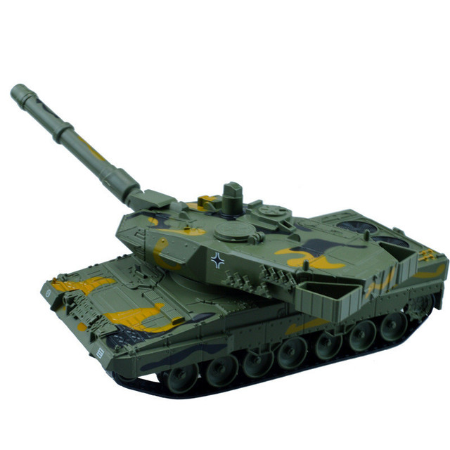 Diecast Metal German Leopard 2A6 Main Battle Tank Military Car Pull Back Flashing Lighting Toys For Children Cars Toy Brinquedos