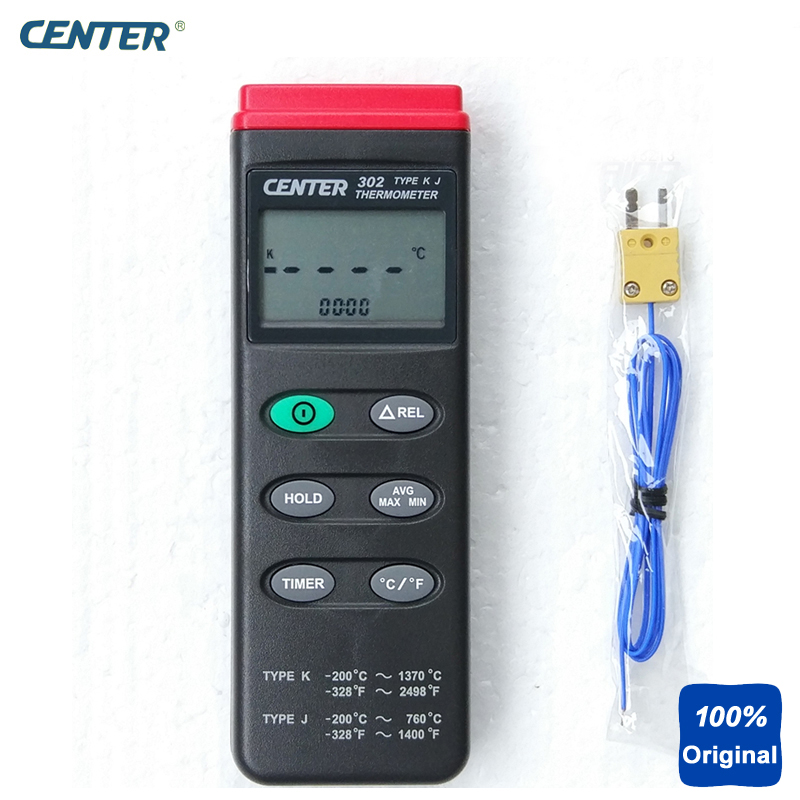 Digital Portable K,J Type PC Interface Thermocouple Thermometer CENTER-302 tpi 306c 40 150 pen type digital thermometer