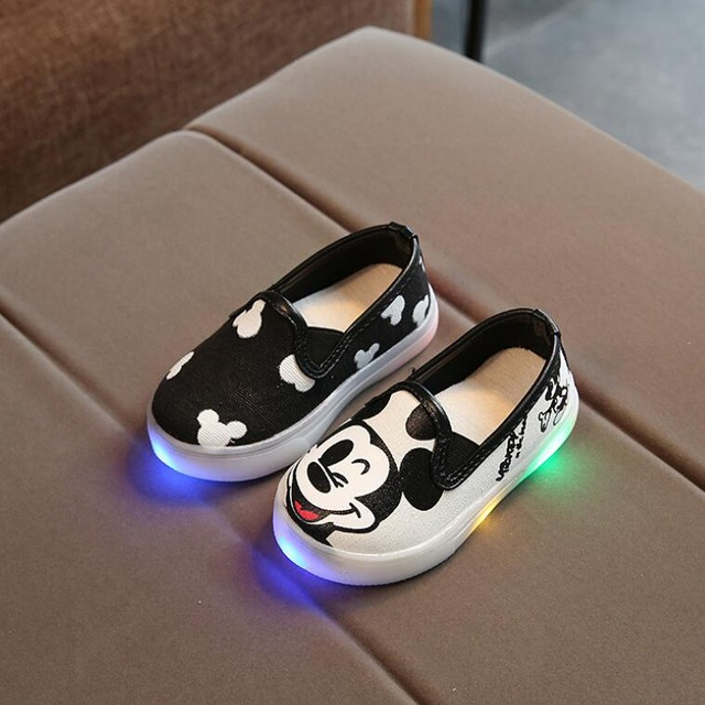 Davidyue Kids Shoes With Light Girls Boys Led Sneakers Spring/Autumn Breathable Fashion Boys  Shoes Canvas Soft Girls Shoes