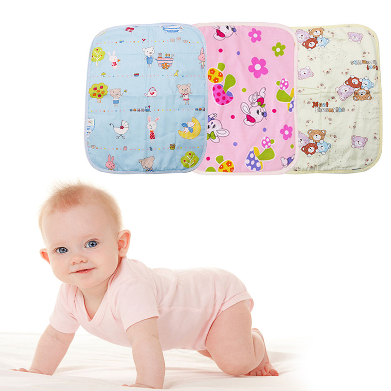 Waterproof Chang Diaper Pad Cotton Washable Baby Kids Infant Urine Mat Nappy Bed