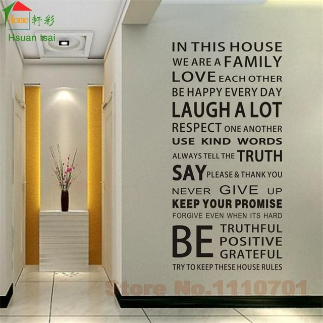 Aliexpresscom Buy IN THIS HOUSE English DIY glass vinyl wall