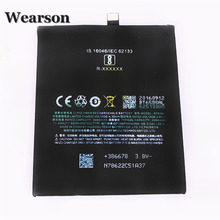 Wearson BT65M Battery For MEIZU MX6 Battery 3000mAh Free Shipping With Tracking Number