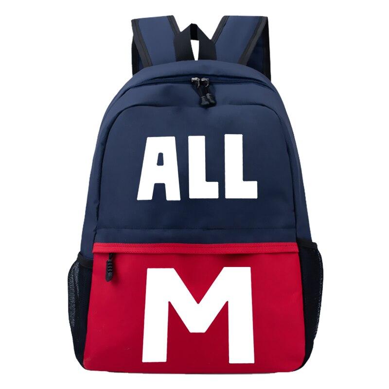 Anime Boku no Hero Academia My Hero Academia Cosplay Backpack All Might School Bag Satchel Teenager Student Rucksack Anime Bag
