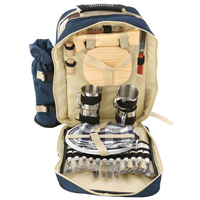 Portable cutlery bag four people picnic bag picnic bag outdoor travel set camping picnic multifunction camping cookware