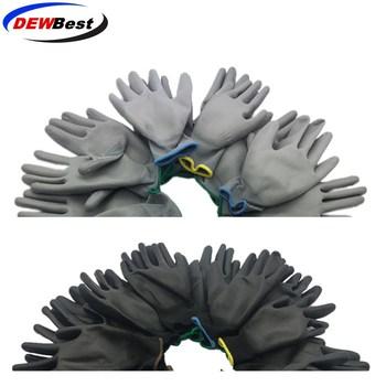 DEWBest 12 par i 24 pary robocze rękawice ochronne męskie i damskie elastyczne niebieskie poliestrowe rękawice ochronne z nylonu tanie i dobre opinie See Table Rękawice robocze PU518 black and white and gray Machinery Manufacturing Car Repair 13 Gauge Nylonpu Coated Working Gloves