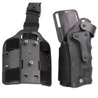 Caccia Dell'esercito Airsoft Tactical Fondina Destra e Sinistra-Handed Della Coscia Della Gamba combattimento Pistola Holster Misura Per GL 17 M92 M96 USP P226