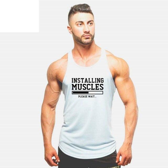 Brand Clothing Bodybuilding Fitness Men Tank Top Workout American Muscle Vest Stringer Sportswear Undershirt