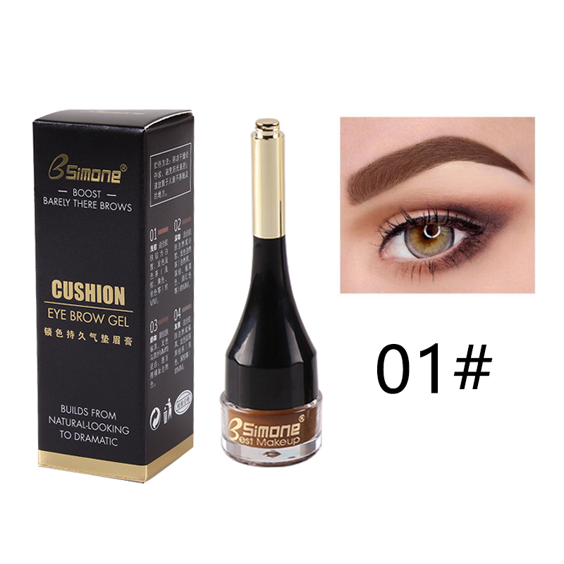 Air Cushion Eyebrow Makeup New 4 Colors Waterproof Pomade Long lasting 3D Natural Brown Eye Brow Enhancer Cream With Brush TSLM1 image