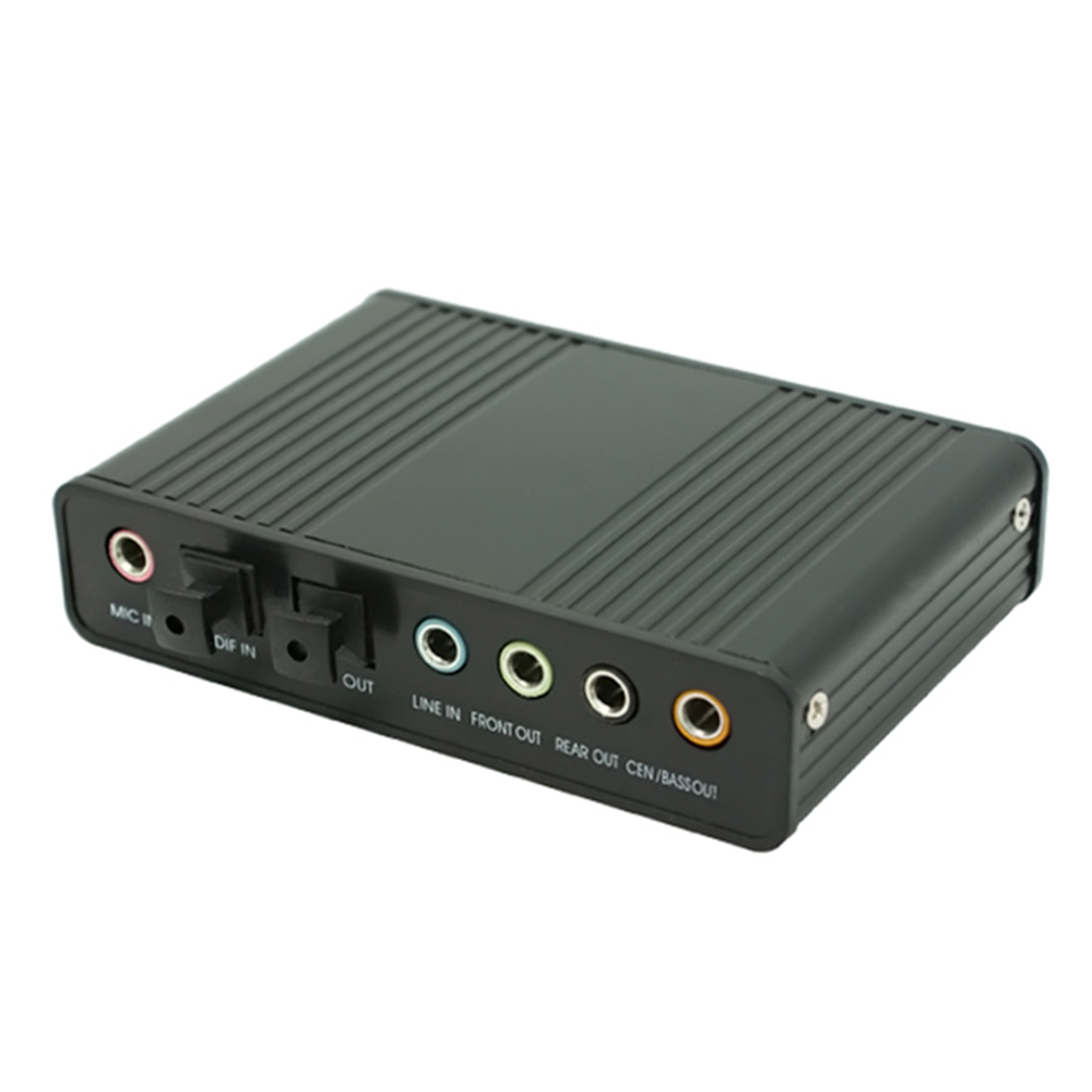 USB 2.0 Channel 5.1 Optical Toslink S/PDIF Audio Sound Card,External Audio Adapter Converter -PC Computer Laptop Sound Recording