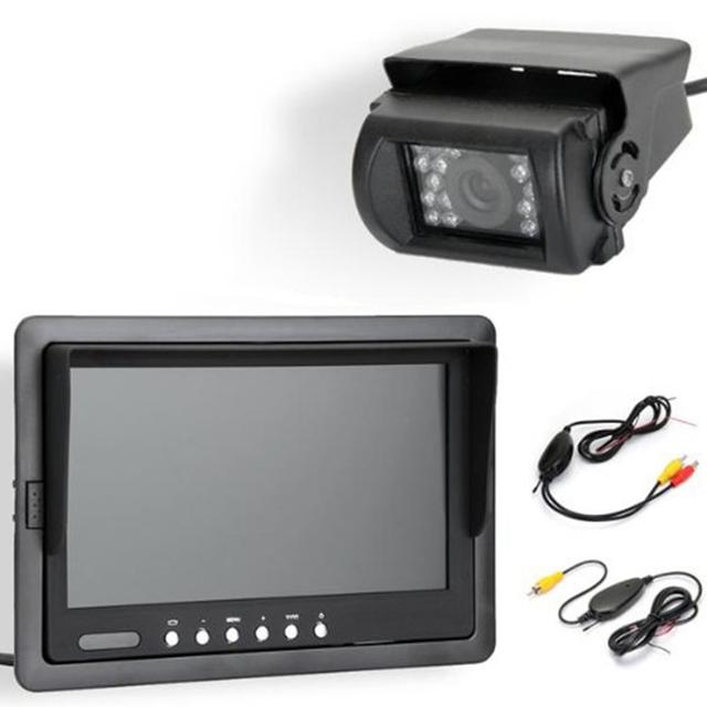 7 polegadas TFT LCD Monitor de Retrovisor Do Carro IR Invertendo Backup 18 LED Noite Versão Camera