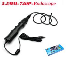 Latest 5.5mm Endoscope Cam 6LED 1M Waterproof snake Borescope Camera Micro USB For Windows PC industrial use