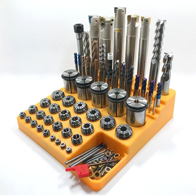 1 шт. пластиковая коробка для хранения пружинных цанговых вставок для ЧПУ детали инструмента Коллекционная коробка