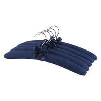 Neoviva High Quality Coat Hanger For Dress Pack Of 5 Solid Indigo Blue 38CM For Women