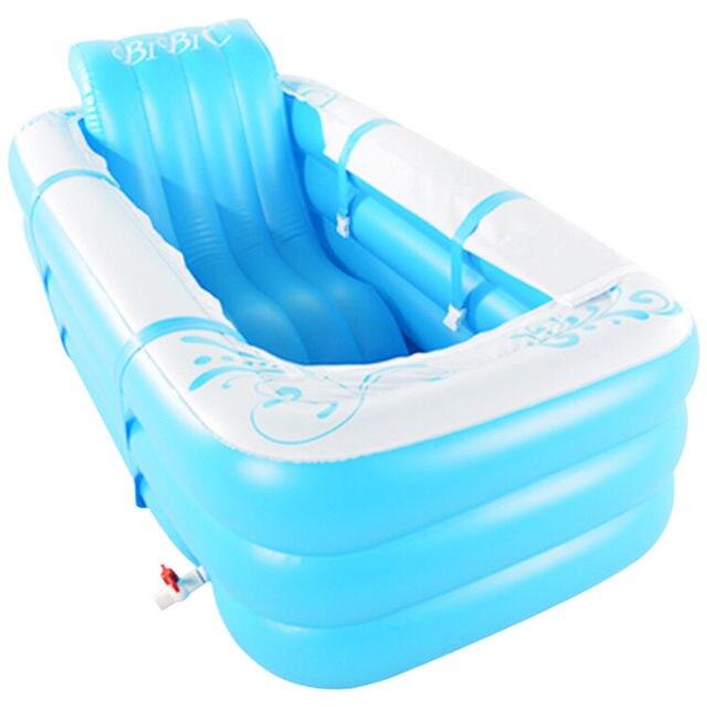 Online Shop Inflatable Bathtub,Thickening Tub,Folding Bath Basin ...