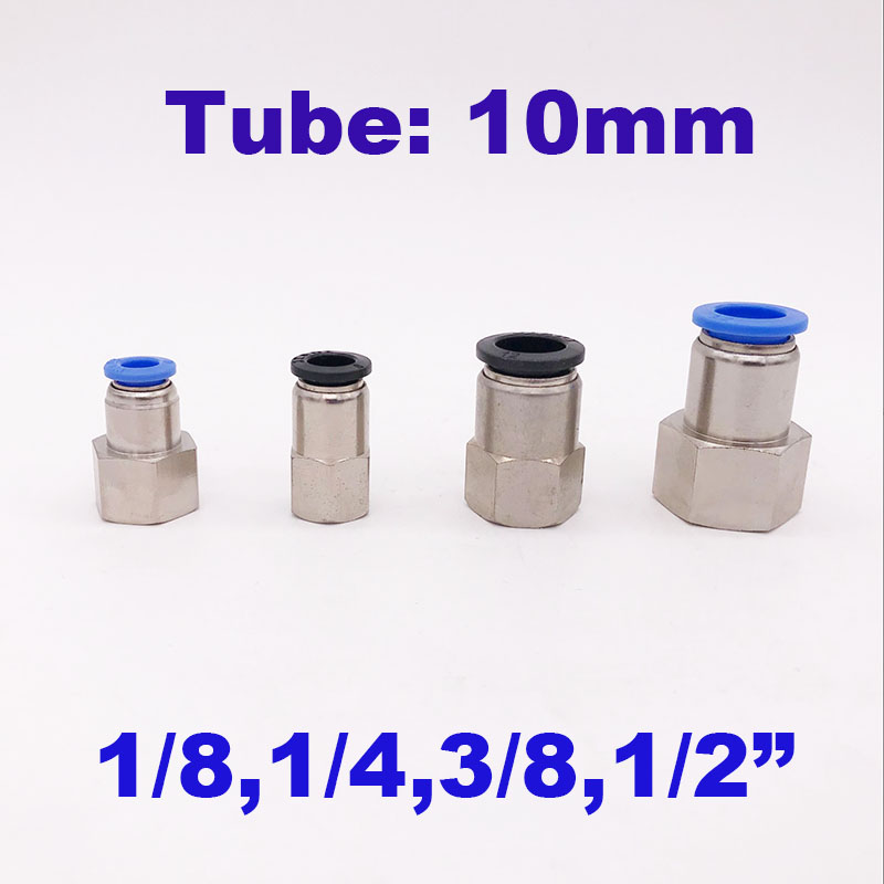 """FIT-COMPRESSION-ELBOW-04A Swivel use on air engine 1//4/"""" Tube to 1//8/"""" NPT Male"""