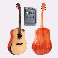 41 Full Solid Electric Acoustic Guitar,With Spruce Top/Solid Mahogany Body,guitars china With Hard case,Half Cutaway