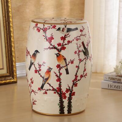 все цены на Chinese antique style flower and bird design ceramic stool for home garden decor онлайн