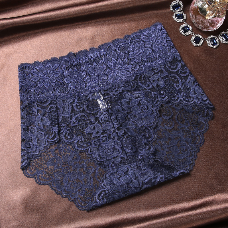 Sexy Lace Lingerie Plus Size Women Underwears Transparent Bottoms Large Panties Female Middle Waist Briefs Fancy Underpants XXXL