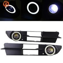 POSSBAY Halo Ангельские глазки кольцо переднего бампера противотуманных фар гриль светодиодный туман лампа для BMW 5 серии E60 седан 2003/2004 -2007 предварительно facelift