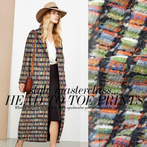 Europe et états-unis manteau de laine de cachemire de haute qualité haute couture tissu tissu spécial automne et hiver/100 cm * 150 cm