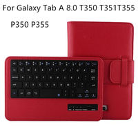 Case For Samsung Galaxy Tab A 8.0 T350 T351 T355 C Tablet Wireless Bluetooth keyboard Protective PU Leather SM T355 P350 5 Case