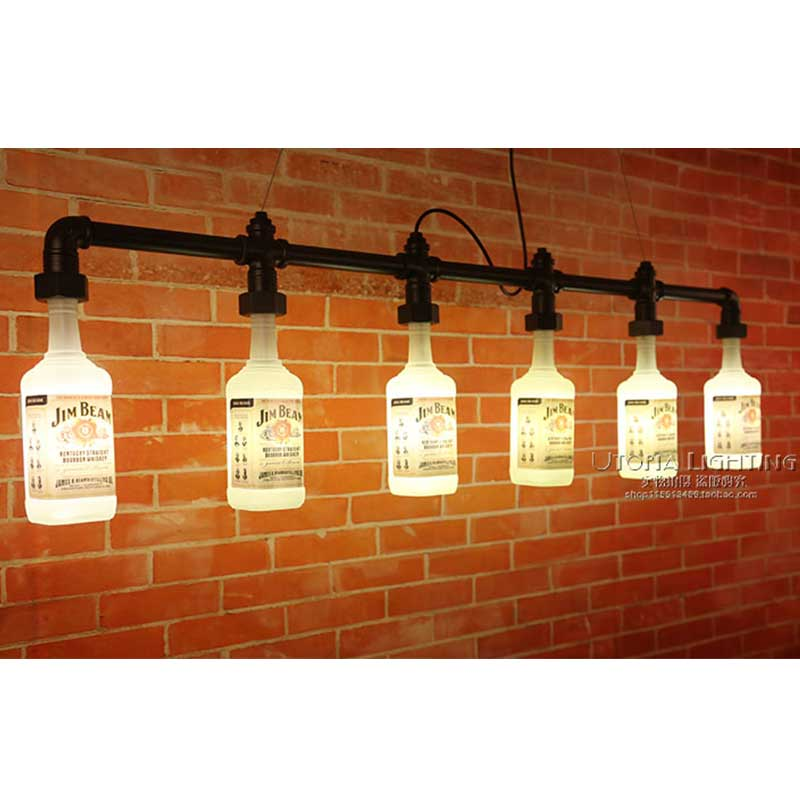 Retro lighting Garage 2015 Iron Time Limited Ikea Pendant Lamp Industrial Loft Style Bottle Chandelier Bar Cafe Retro Lighting Pipe Vintage in Pendant Lights From Lights Affordable Lamps 2015 Iron Time Limited Ikea Pendant Lamp Industrial Loft Style
