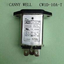 CW1D-10A-T iec 320 c14 ذكر المقبس لوحة جبل الطاقة الخط emi تصفية ac 220 فولت 10a المعدات الكهربائية