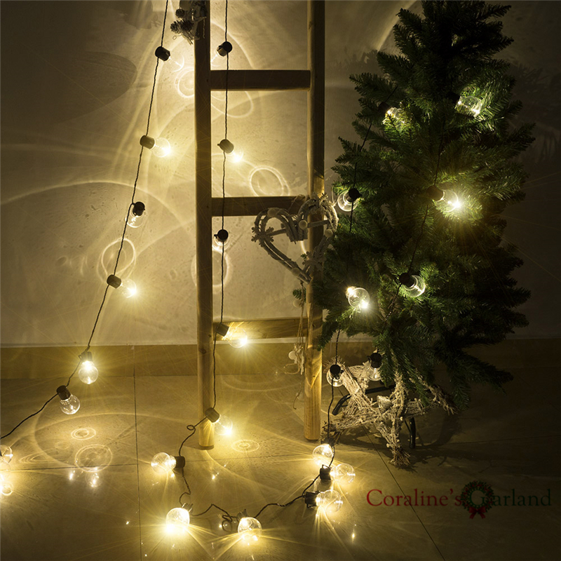 10M 38 LED Globe Festoon Party Ball String Light Outdoor Led Christmas Lights Connectable Fairy Light Wedding Party Garland