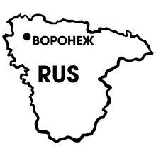 цена на CS-1422#30*26cm Voronezh region funny car sticker vinyl decal silver/black for auto car stickers styling