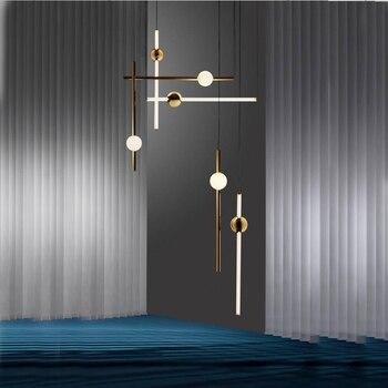 posmoderno arte colgante de de Lámpara nórdico restaurante CsrdBxthQ