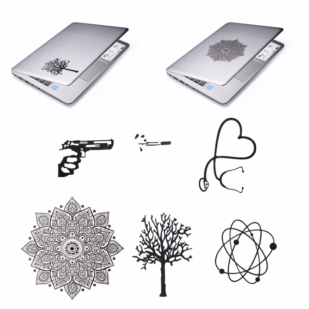 Funny Laptop Sticker For MacBook General Black PVC Decorations Decal Sticker for Laptops Decor 10-Type C26