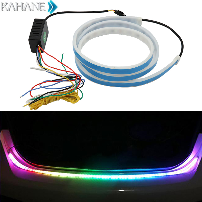 Car-styling DRL LED Daytime Running Light Strip Trunk Light with Side Turn Signals Rear lights Car Braking Light For Mazda Volvo for ford fusion 2013 16 guiding light daytime running lights drl turn signals 2x