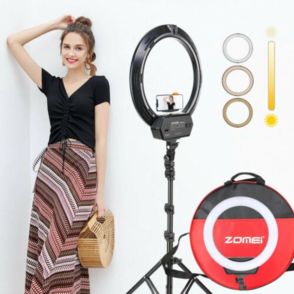 Zomei ZM-16C Dimmable photographie Photo Studio téléphone vidéo 16 pouces LED anneau lumière trépied support anneau lampe caméra avec prise US