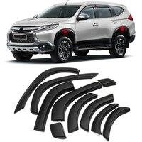 Для Mitsubishi Pajero Montero Shogun Sport 2016 2018 2017 пластик автомобиля арок арки колеса бровей Авто колеса губы крышка отделка