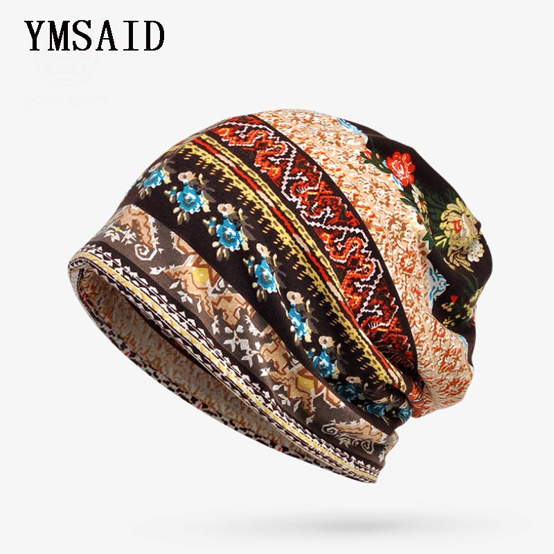 Ymsaid New 2 in 1 Hats Men Women   Skullies     Beanies   Thin Camouflage Flower Hip Hop   Beanies   Hat Bib Mask Bonnet Female Male Autumn