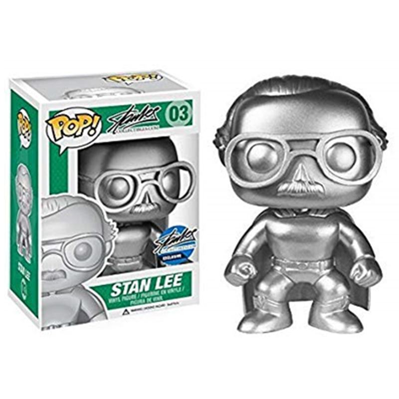 Funko-POP-Superhero-Stan-Lee-Platinum-Silver-Edition-Exclusive-Vinyl-Action-Figure-Doll-Collection-Model-Toys