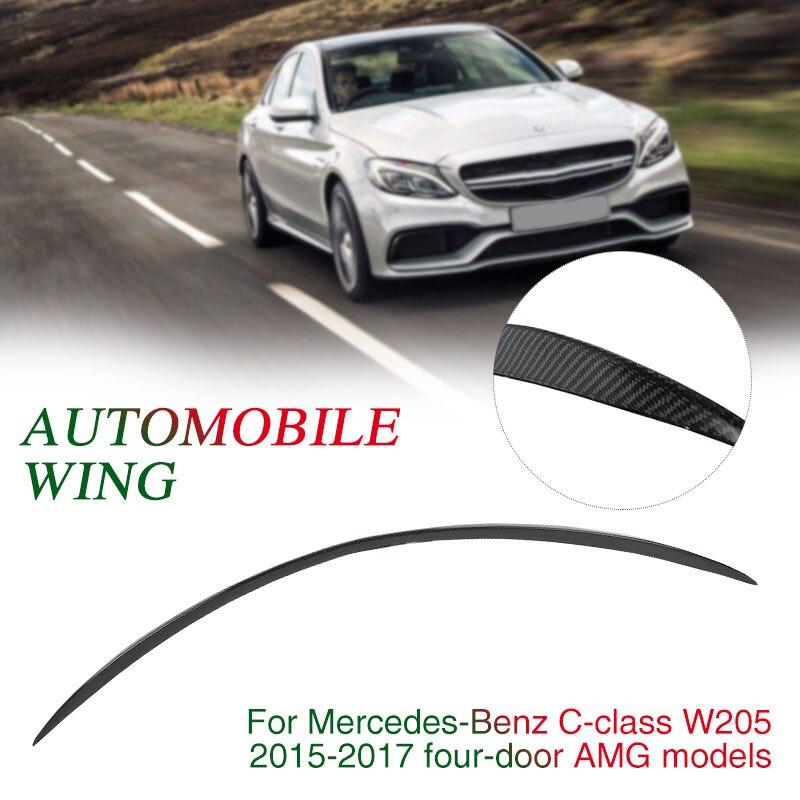Автомобиль хвост крыло 125*3*3,5 см черный спойлер багажника заднего крыла 4D погода доказательство для Mercedes Benz C Class W205