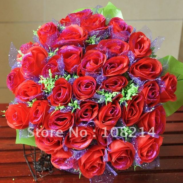 Super size 36 Red Rose Flower for wedding party,bride Bouquet ...