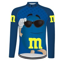 M&Ms cycling jersey 2019 pro team Cycling Jerseys men cycling knit Autumn long Sleeves Ropa Ciclismo Bicycle MTB Bike Clothing