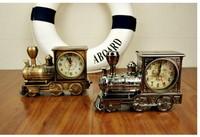 Orginal Package Train Needles Alarm Quartz Clock Desk Clock Classic Retro Locomotive Shape Alarm Clock Gift
