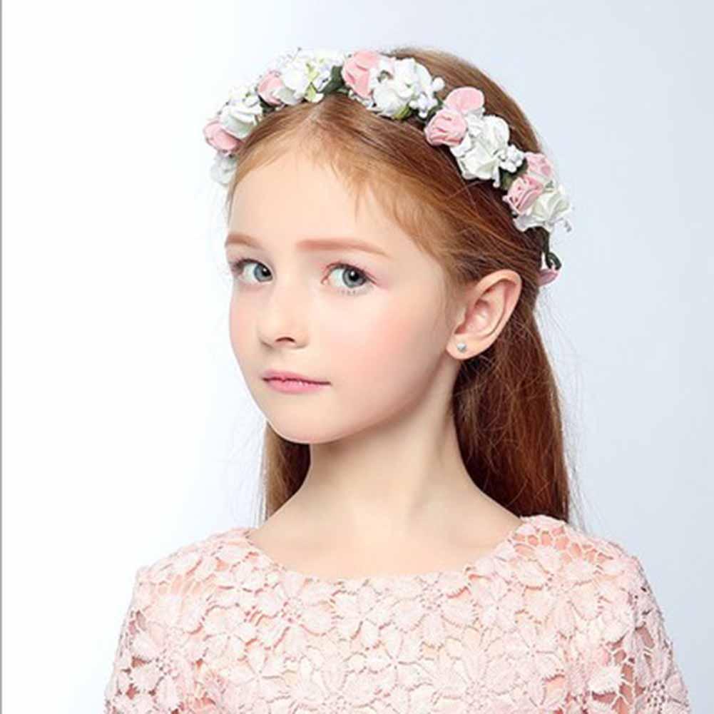 boho floral wrist flower girl garland headwear crown of flowers for hair  Garland headband accessories headpieces wedding tiara-in Hair Accessories  from ... 223dc90bec4