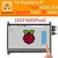 7 polegadas tela de Toque Capacitivo HDMI USB, LCD, para Raspberry Pi 2/3 modo B driver Livre para raspbian/WIN10, 1024x600