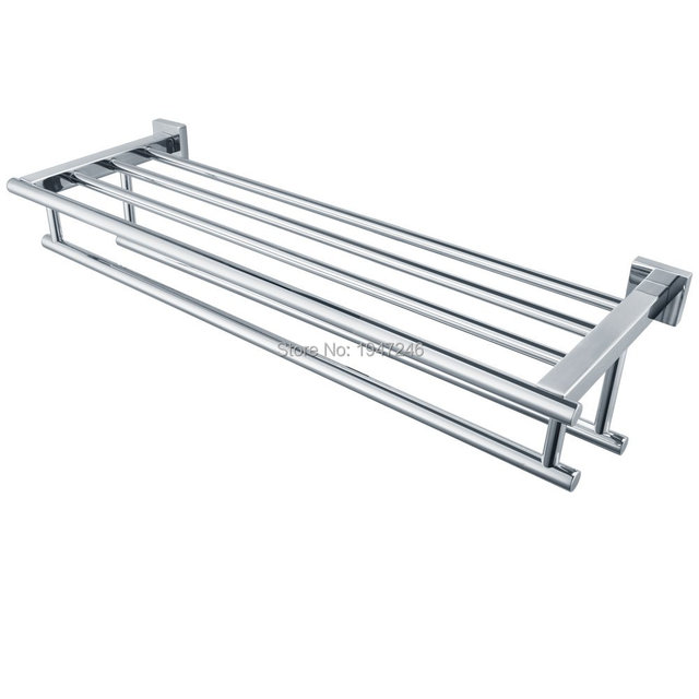 Qualität Promotions Glanz Silber Chrom Edelstahl Wand Badezimmer  Handtuchhalter Lagerregal Regal Bar