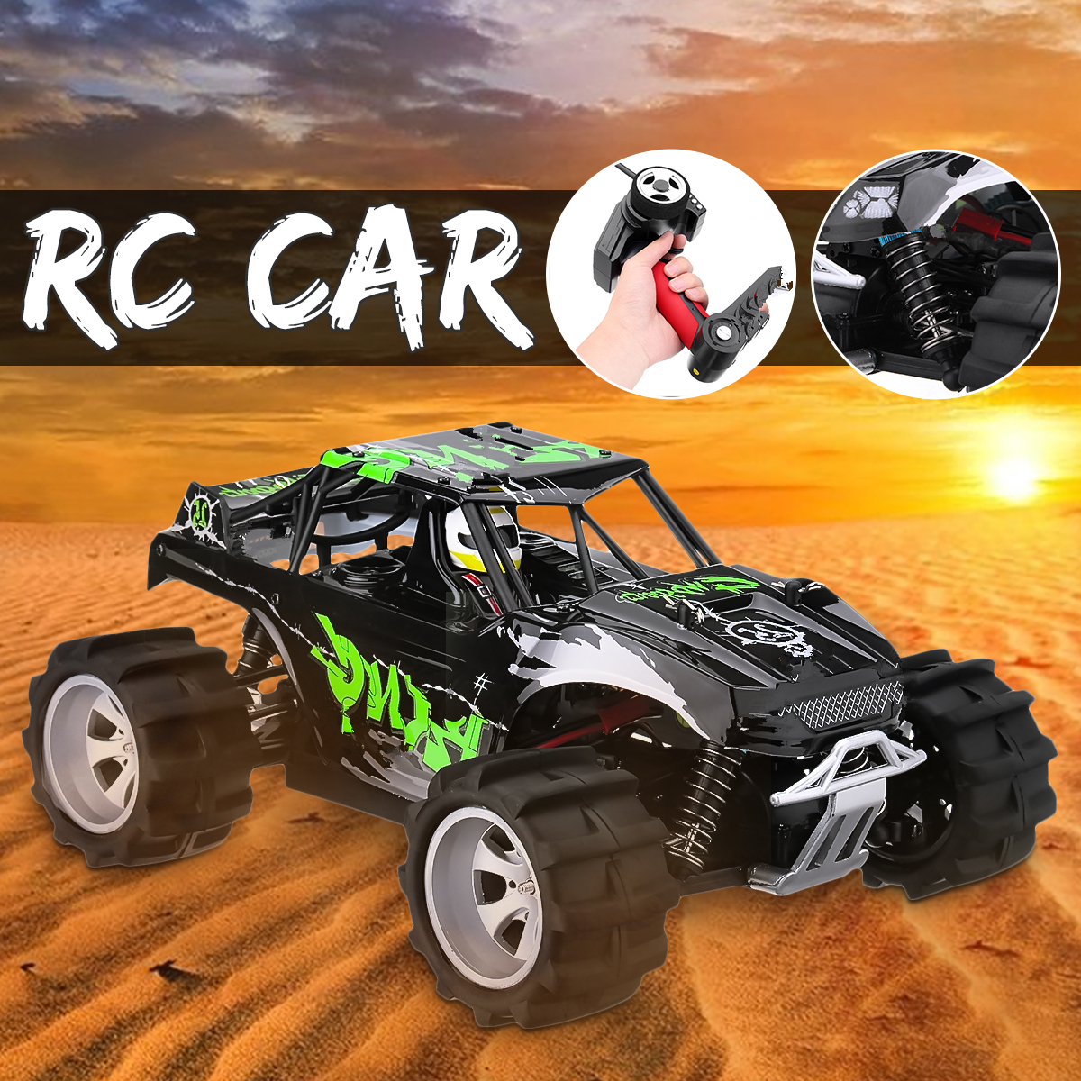 New Toy Car Truck All Terrain Off-road Rechargeable 20 Volt Remote Control High Speed Racing RC Car Off Road Truck 1:18 RC Drift