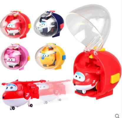Catapult Super Wings Aircraft Robot Action Figures Rocket Shot Toys for children kids gift Brinquedos