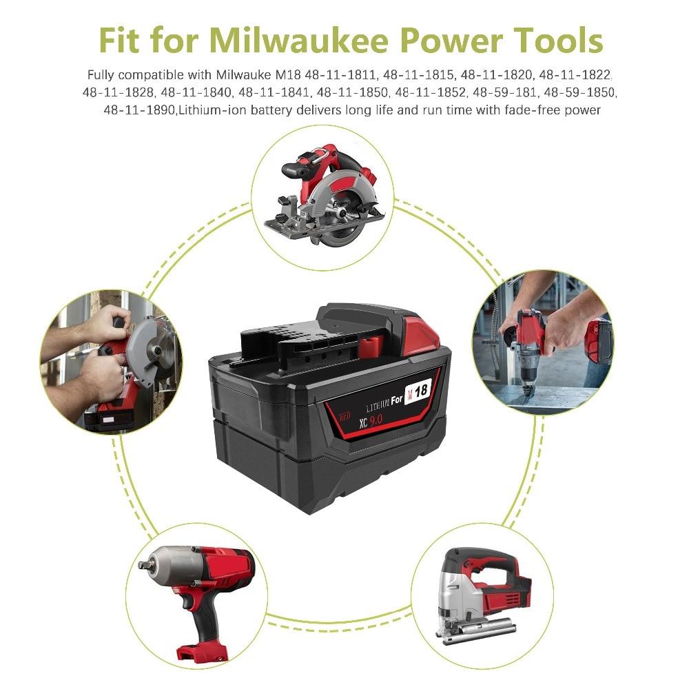 v m18 ferramentas elétricas recarregável li-ion bateria